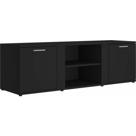 Mueble para TV de aglomerado negro 120x34x37 cm