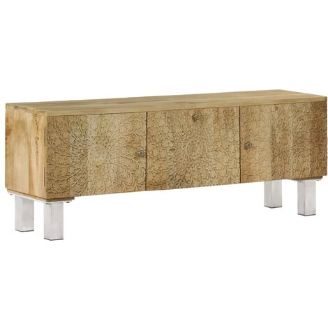 Mueble para TV de madera maciza de mango 118x30x45 cm