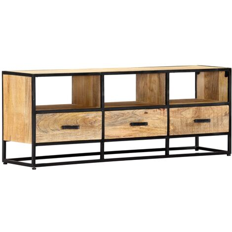 Mueble para TV de madera maciza de mango 120x30x45 cm