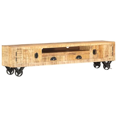 Mueble para TV de madera maciza de mango 150x30x37 cm
