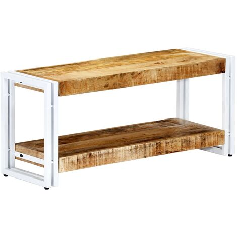 Mueble para TV de madera maciza de mango 90x30x40 cm