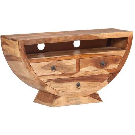 Mueble para TV de madera maciza de sheesham 100x30x52 cm