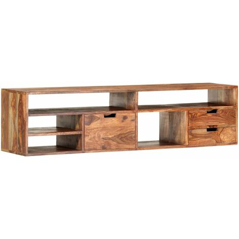 Mueble para TV de madera maciza de sheesham 140x30x35 cm
