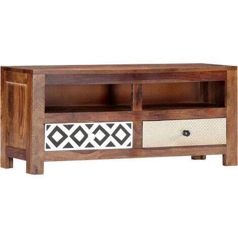Mueble para TV de madera maciza de sheesham 90x30x40 cm