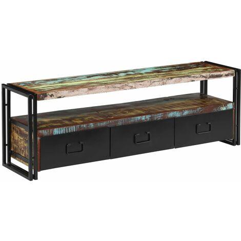 Mueble para TV de madera maciza reciclada 120x30x40 cm