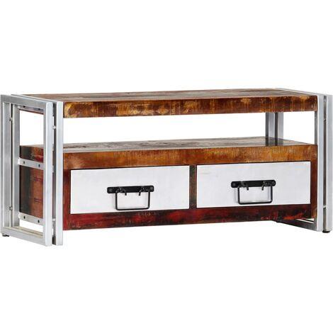 Mueble para TV de madera maciza reciclada 90x30x40 cm