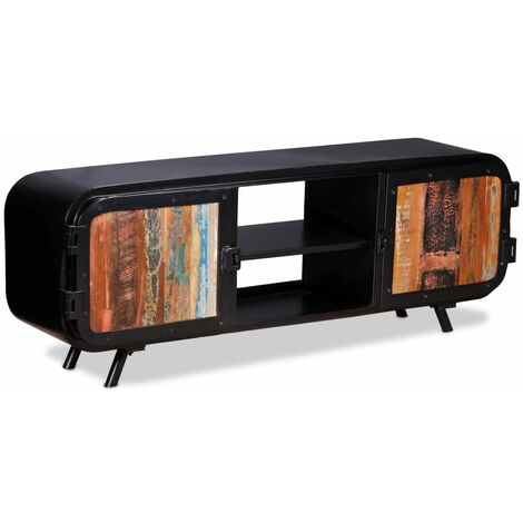 Mueble para TV de madera reciclada 120x30x45 cm