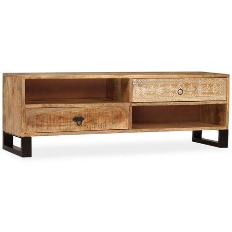 Mueble para TV de mandera maciza de mango 120x30x40 cm
