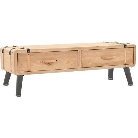 Mueble para TV madera maciza de abeto 120x33x35 cm