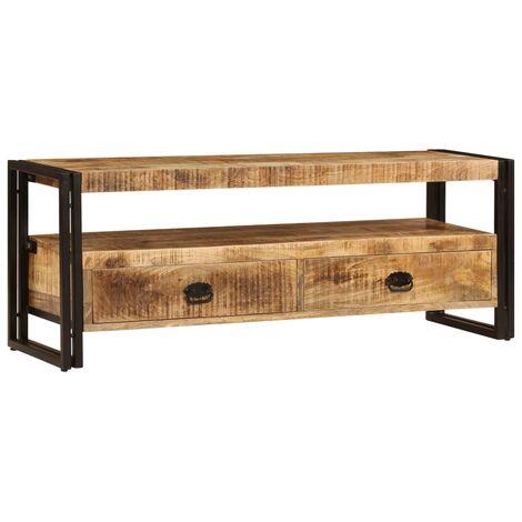 Mueble para TV madera maciza de mango 120x35x45 cm - Marrón
