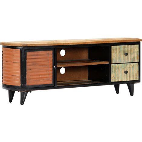 Mueble para TV madera maciza reciclada 120x30x45 cm