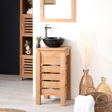 Muebles Para El Cuarto De Bano.Mueble Pequeno Para Cuarto De Bano Wc Zen De Teca 40 Cm