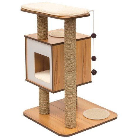 Mueble Rascador para Gatos V-Base Vesper - Nogal