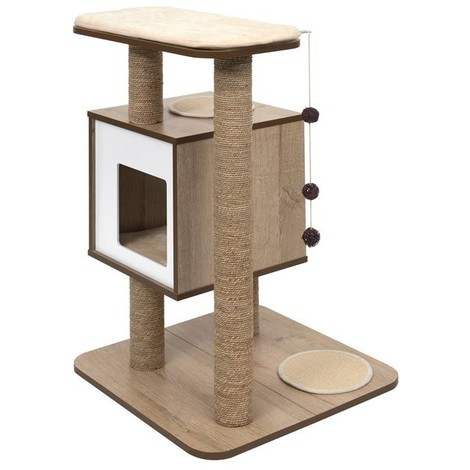 Mueble Rascador para Gatos V-Base Vesper - Roble Vesper