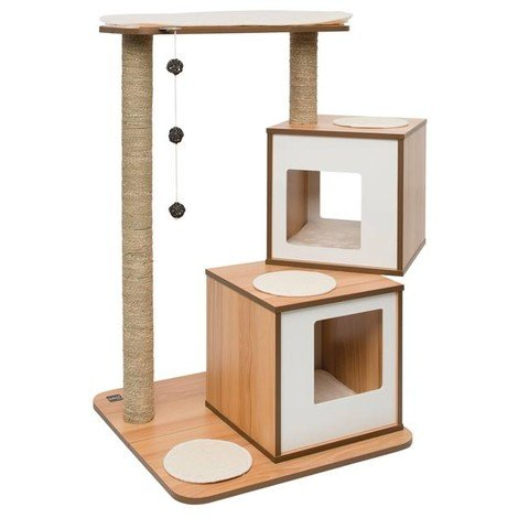 Mueble Rascador para Gatos V-DOBLE Vesper - Nogal