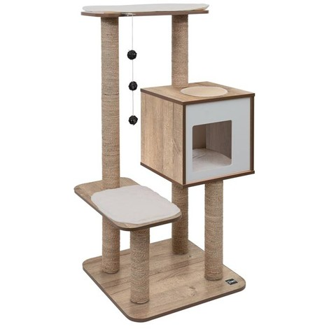 Mueble Rascador para Gatos V-High Base Vesper - Roble Vesper