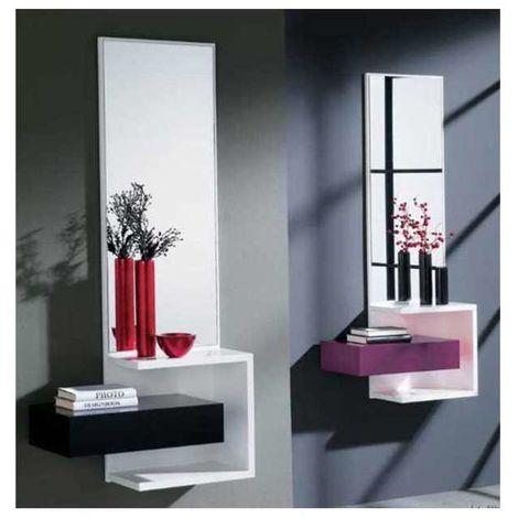 Mueble recibidor 4 moderno varios colores Color Cerezo