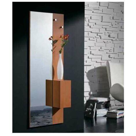 Mueble recibidor con o sin cristal serigrafiado varios colores Color Cerezo