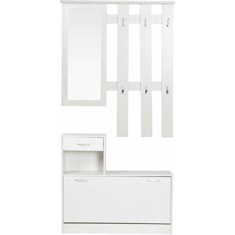 Mueble recibidor vestidor Kendra - Blanco