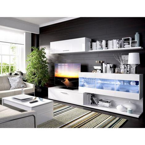 Mueble Salon Comedor Viena ILUMINACION LEDS , medidas: Alto:180cm - Ancho:260cm - Fondo:40cm