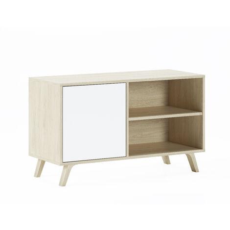 Mueble TV 100 con puerta izquierda, salón comedor, Modelo WIND