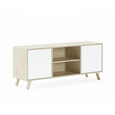 Mueble TV 140 con 2 puertas, salón comedor, Modelo WIND