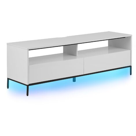 Mueble TV blanco con LED SYDNEY