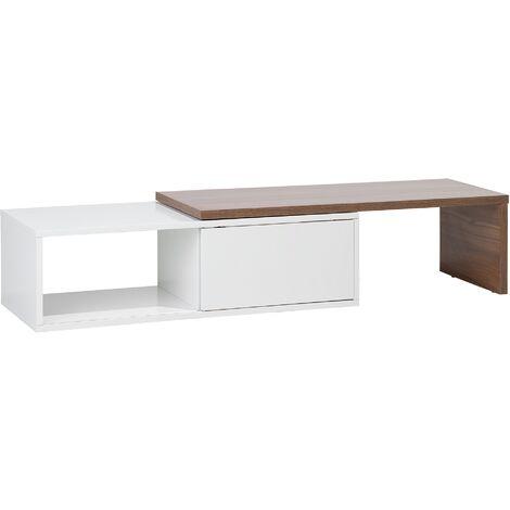 Mueble TV en blanco y marrón YONKERS