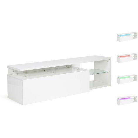 Mueble TV LED Penny lacado - Blanco
