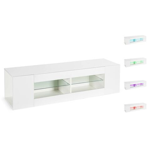 Mueble TV LED Rain lacado - Blanco