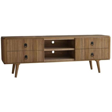 Mueble TV Lessime de madera de paulownia - 50191001042433