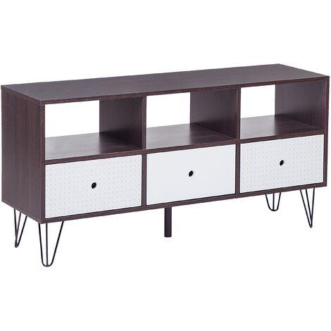 Mueble TV madera oscura/blanco FOSTON