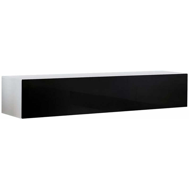 160 cm Mueble TV Modelo Forli XL en Color Negro