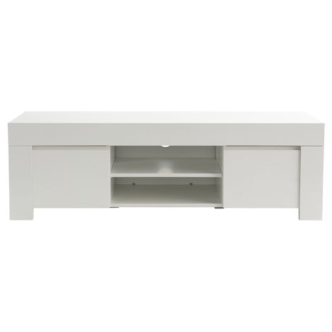 Mueble TV moderno blanco mate L138 cm TINO