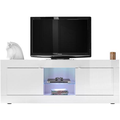 Mueble TV moderno lacado blanco 180cm LATTE