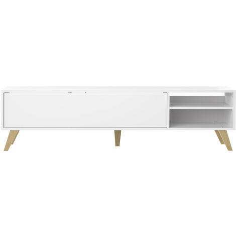 Mueble TV nórdico blanco ORIGAMI