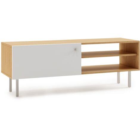Mueble TV salon moderno madera modulo comedor diseño nordico 110x35x40cm madera