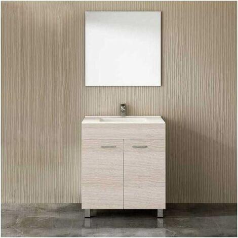 Mueble ULL con lavabo y espejo ARENA 80CM