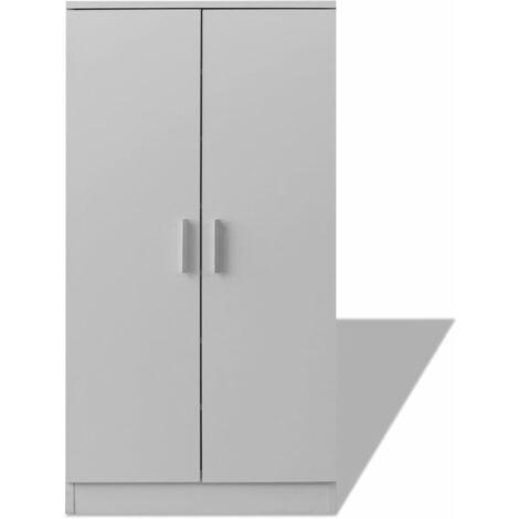 Mueble zapatero blanco con 7 estantes