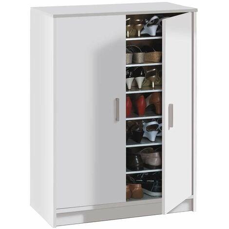 """main image of """"Mueble zapatero Cisa color blanco armario auxiliar 6 estantes 75x36x101 cm"""""""