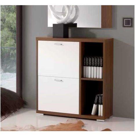 Mueble zapatero con estantes 3 colores combinados
