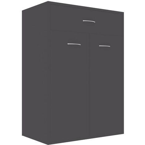 Mueble zapatero de aglomerado gris 60x35x84 cm