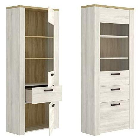 Mueblel Vitrina 2 Puertas, Salon Comedor , Medidas: 75cm (ancho) x 33 cm (Fondo) x 188 cm (Alto)