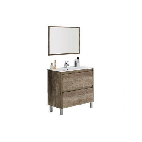 "main image of ""Muebles Baño - Set Mueble Lavabo Espejo Madera Dako"""
