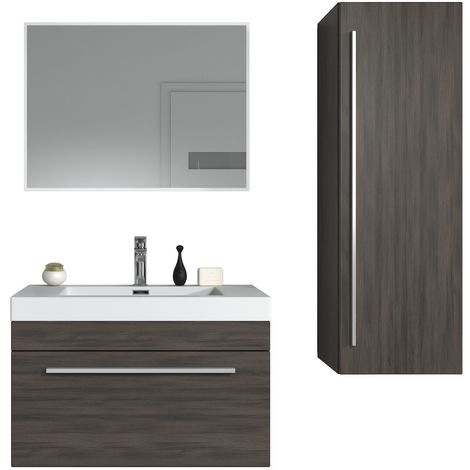 Muebles de baño Avalon 80cm set - armario de base lavabo bano gabinete lateral