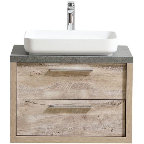 Muebles de baño Indiana 90cm nature wood - armario de base lavabo armario bano espejo