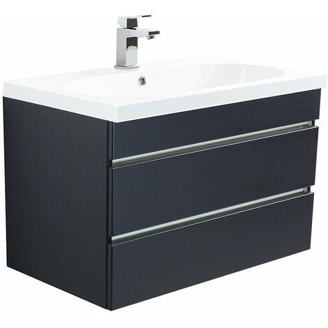 muebles de baño Talis 70 Antracita satinado con cajones sin tiradores