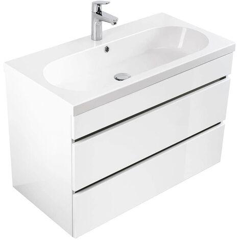 muebles de baño Talis 70 Blanco brillante con cajones sin tiradores