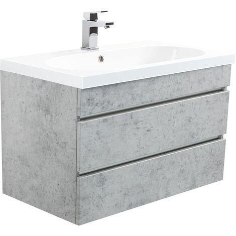 muebles de baño Talis 70 Gris hormigón con cajones sin tiradores