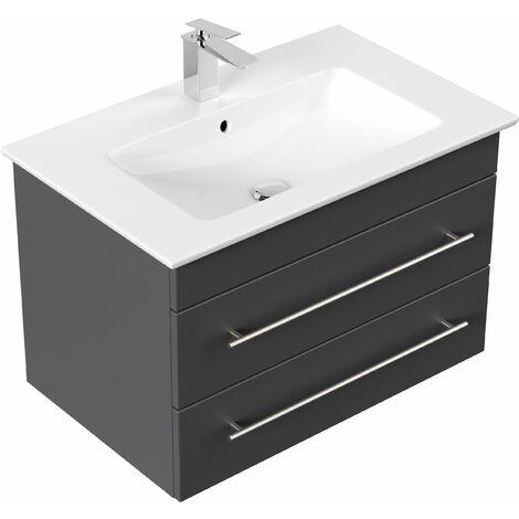 muebles de baño Villeroy & Boch Venticello lavabo 80 cm Antracita satinado